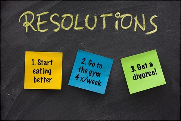 new year resoloutions get a divorce